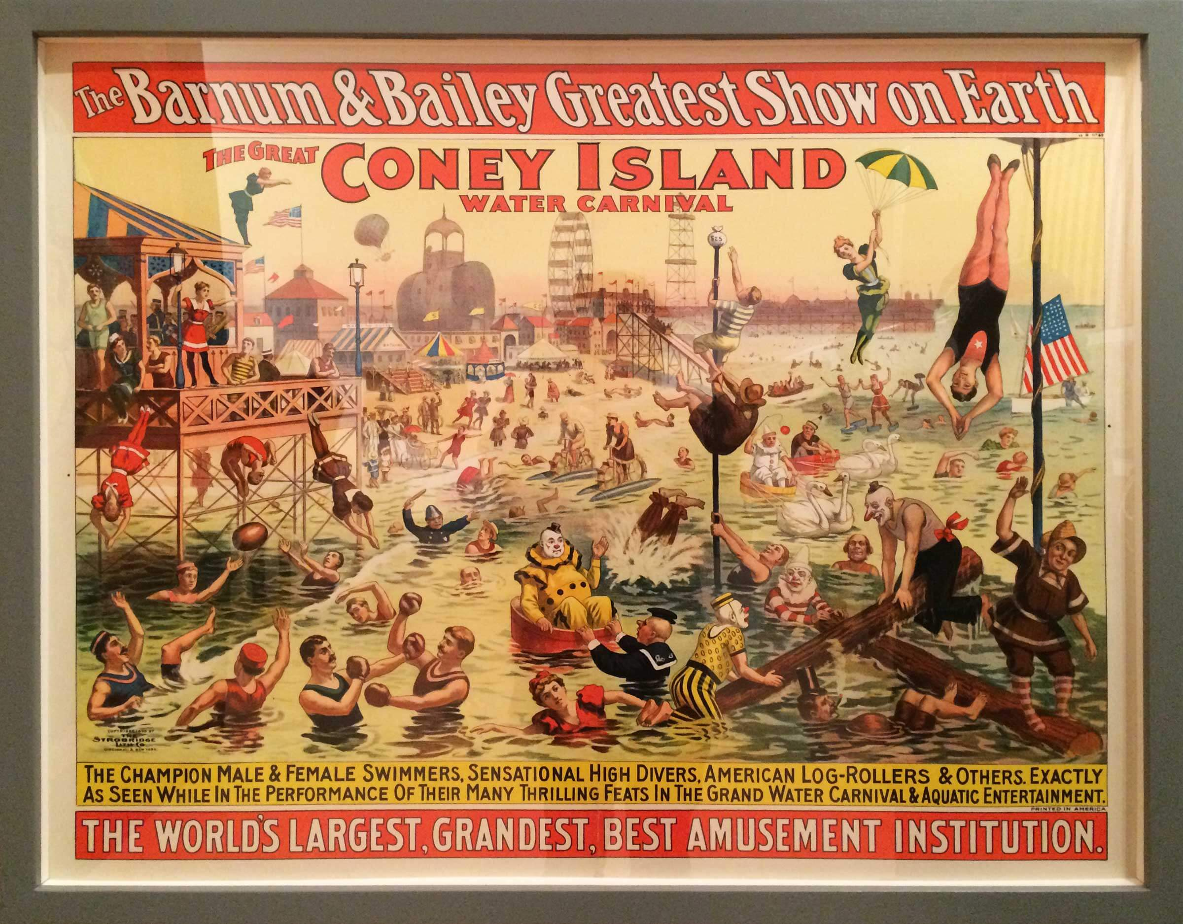 Affiche of The Barnum & Bailey greatest show on earth — The great Coney Island water carnaval.